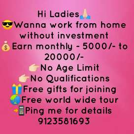 Part time job for ladies, girls, home maker, students