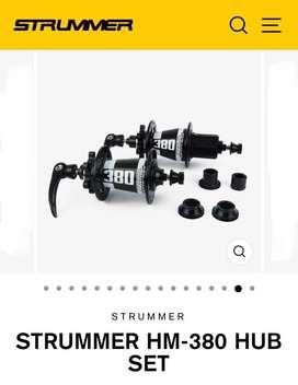 Sepeda Gunung - MTB HUB FREEHUB STRUMMER HM-380 4 in 1 (Hitam Putih)