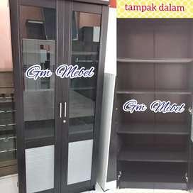 Jl Paus GM MEBEL Lemari Rak Hias Buku Arsip Kantor 2 Pintu Pekanbaru