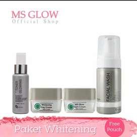 Msglow original paket whitening gratis pouch