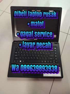 Dibeli laptop mati rusak pecah layar