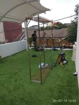 Karpet Rumput Sintetis Ketebalan 30Mm Untuk Taman Playground