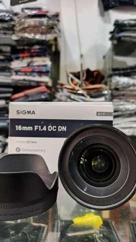 Lensa SIGMA 16mm F1.4 For Canon