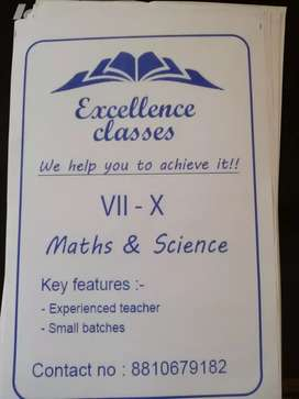 Home tution for maths and science