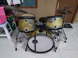 Drum mapex voyager crystal sparkle with cymbal full set