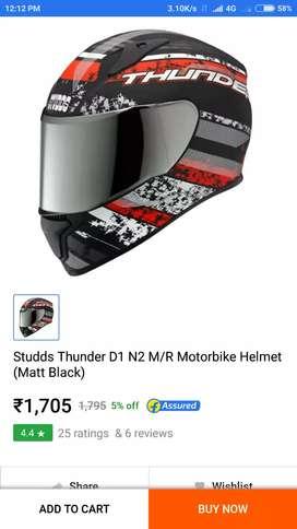 Studds thunder new helmet