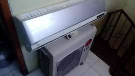 Jual unit+pasang AC LG 1/2 PK. Mesin normal