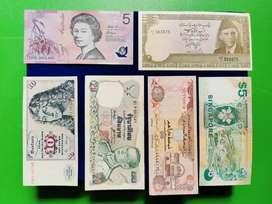 Dijual Borongan Uang Kertas Kuno Antik LUAR NEGERI ASLI 100%