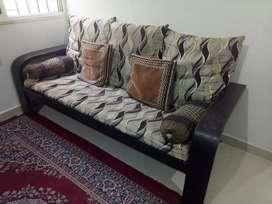 Good condition wooden sofa