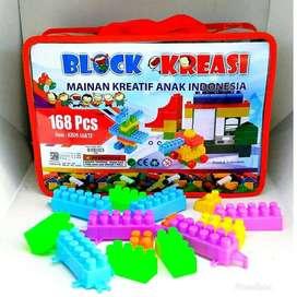 Mainan Edukasi Anak Kreatif Block Isi 168Pcs