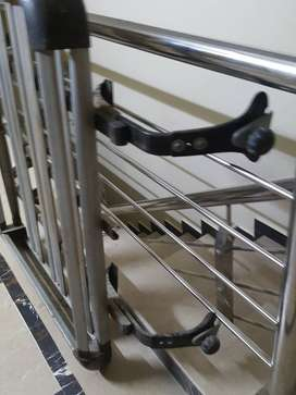 Hijet jangla roof carrier rack in silver wih complete part