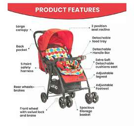Luvlap joy stroller/pram, compact and easy fold for new born baby