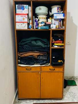 Wooden cabinet for heavy storages