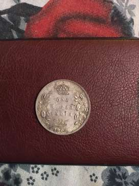 Old silver coin 113 years old
