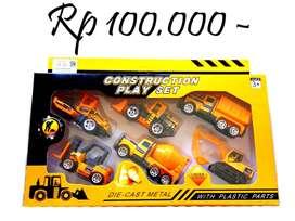Mainan mobil konstruksi 1 set