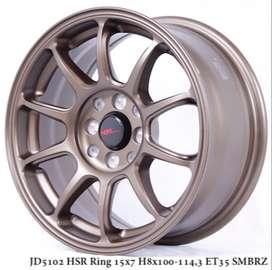variasi velg HSR R15X7 H8X100-114,3 ET35 SMBRZ