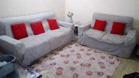Sofa dining table and single bed with two tables for sale urgently