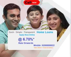 Attractive Home Loans at 6.70% Rate of Interest