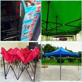 Tenda lipat  uk 2x2  lengkap warnayx ready