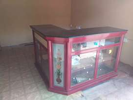 CASH COUNTER TABLE AND FANCY SHELF