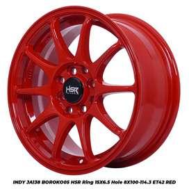 HSR BOROKO R15x6,5 H8x100x114,3 untuk mobil ayla, agya, brio dll.
