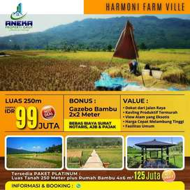 Kami menjual tanah kavling Farm Ville paling murah di Bogor timur
