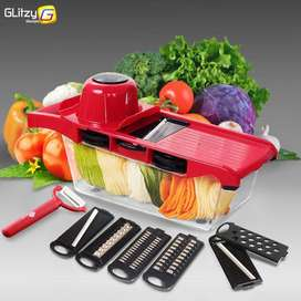 Slicer Vegetable Cutter Grater Chopper Six Interchangeable Blades