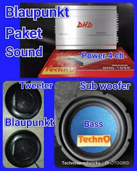 Paket sound audio Blaupunkt Tweeter Sub Bass Power for tv mobil tape