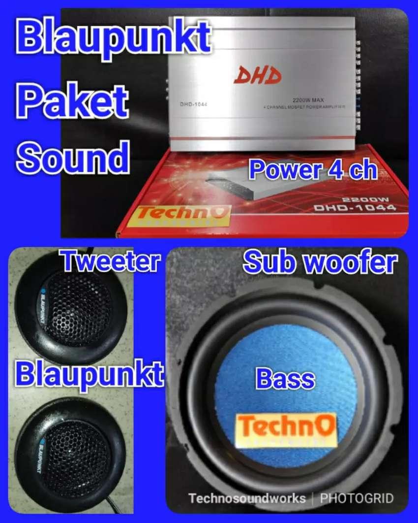 Paket sound audio Blaupunkt Tweeter Sub Bass Power for tv mobil tape 0