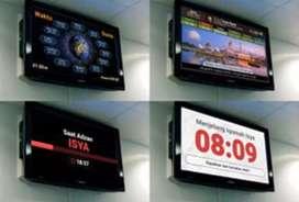 JWS JASMA Jam Sholat Masjid Digital TV LED Murottal Salawat Otomatis