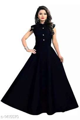 Attractive Solid Women 's Gowns