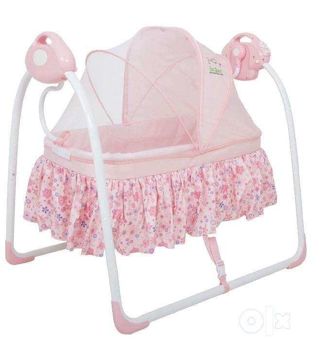 Electric Baby Cradle Swing | Music Sleeping Basket Bed | 0