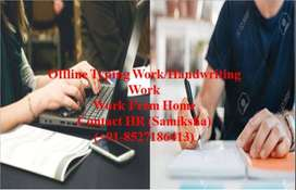 HOME BASED OFFLINE TYPING WORK -PART TIME