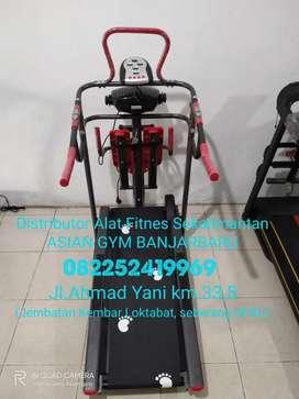 Ready treadmill manual hemat listrik & multifungsi