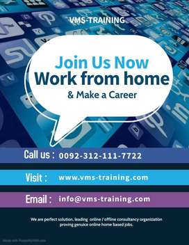 Online easy job at home with easy access