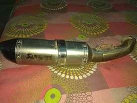 Akrapovic dolbi sound silencer system