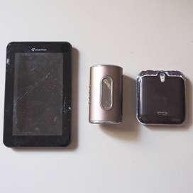 TAB Smartfren (Rusak), Speaker Portable (Rusak), Powerbank SPC (Bagus)