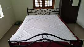Queen size Metal Frame Bed and mattress