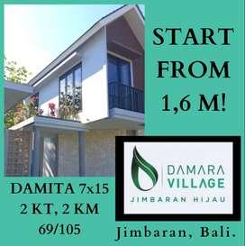Rumah Murah di Bali! Lokasi Strategis @Damara Village, Jimbaran Bali!