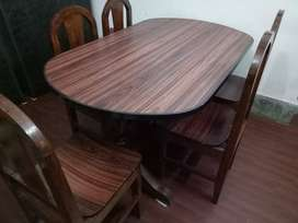 6-SEATER DINING TABLE & CHAIR