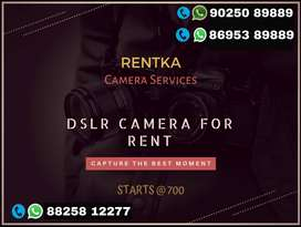 Dslr camera for Rent Nikkon Cannon Model available for Rental service