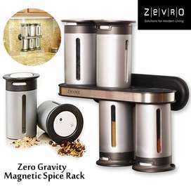 2019 Online Store Wall Mount Magnetic Spice Rack Zero Gravity Canister