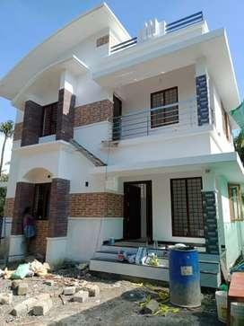 4.cent 1300 sqft 3 bhk new build at paravur aluva road kottappuram