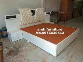 001 New designer bed plywood