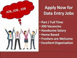 DATA ENTRY WORK PART TIME JOB FROM HOME