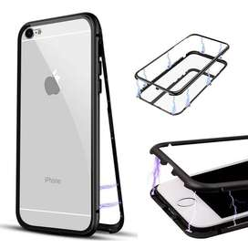 Glass Transparan iPhone 6/6s Case Magnetic 360derajat 2in1