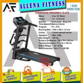 Alat Olahraga Treadmill Elektrik TL 619 - Treadmill Electric Multifung