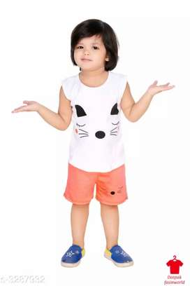 Doodle Trendy Pure Cotton Kid's Clothing Sets