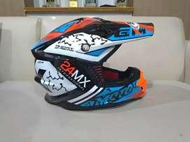 Helm Supermoto GM 24 MX (Bonus Goggle 100% Lengkap)