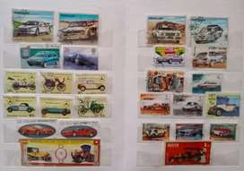 Collection of Car theme Stamps with book